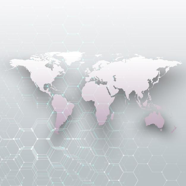 White world map Premium Vector