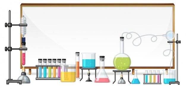 Whiteboard and laboratory equipment Premium Vector