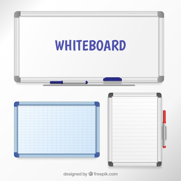 Whiteboards Free Vector