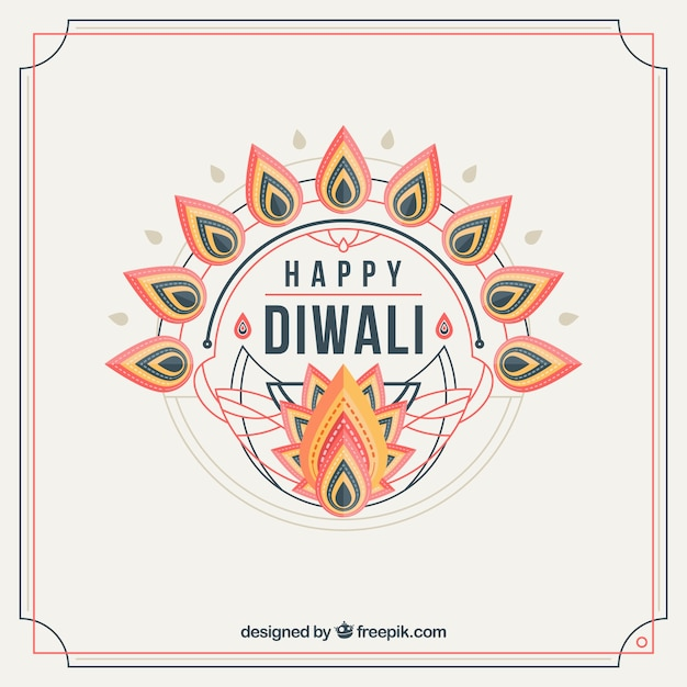 Whote diwali background Free Vector