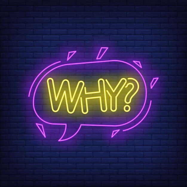 Why neon lettering in speech bubble. Free Vector