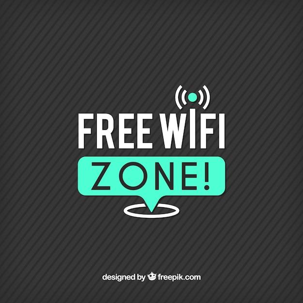 Полосатый фон с wi-fi соединение Бесплатные векторы