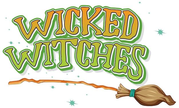 Злые ведьмы логотип на белом фоне Бесплатные векторы
