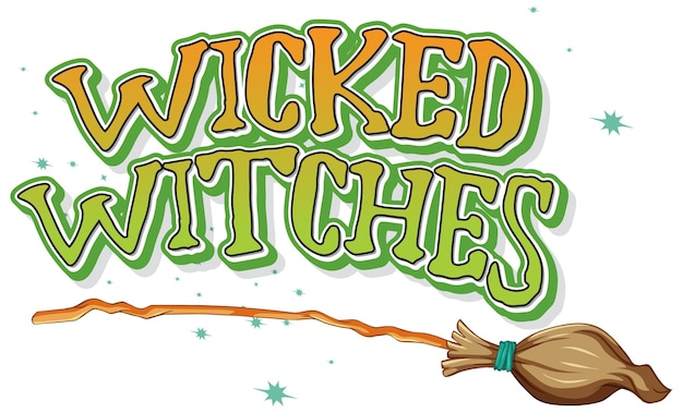 Wicked witches logo on white background Free Vector