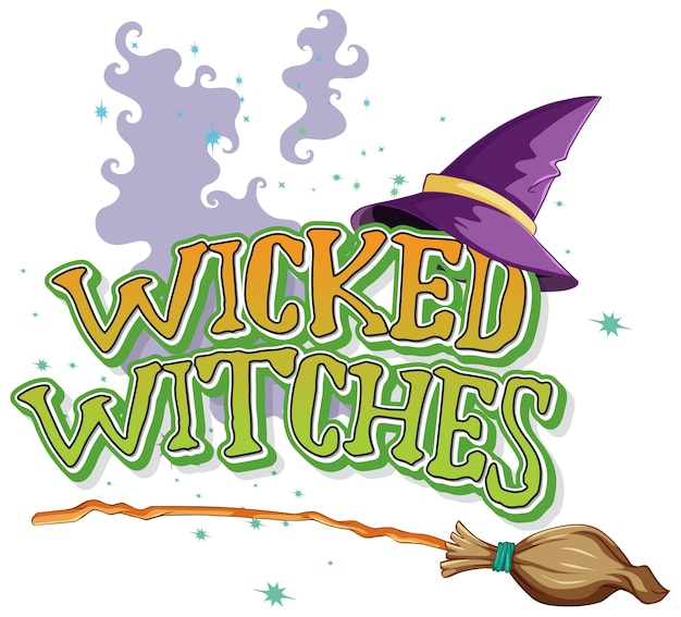 Wicked witches logo on white Free Vector