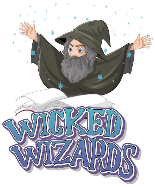 Logo di maghi malvagi su bianco Vettore gratuito