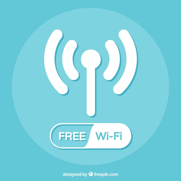 Wifi background design Free Vector