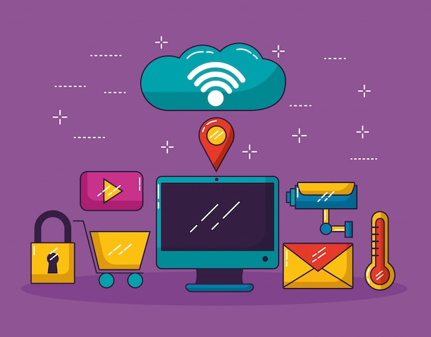 Wifi free connection Free Vector
