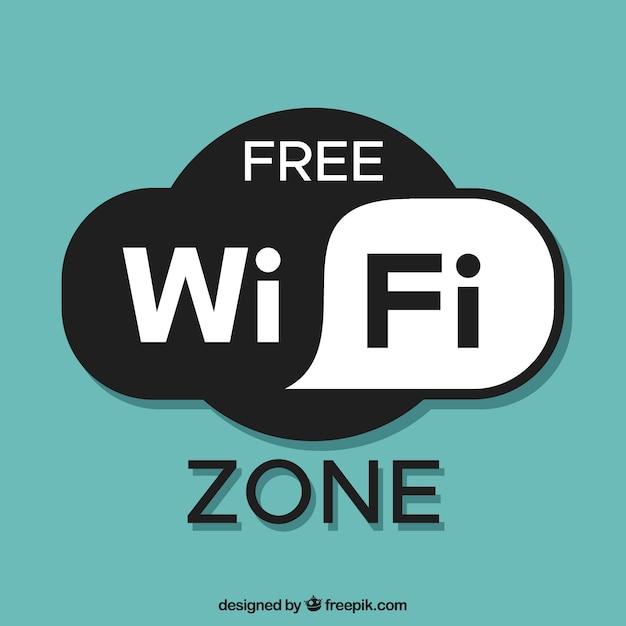 Бесплатный фон зоны wifi Бесплатные векторы
