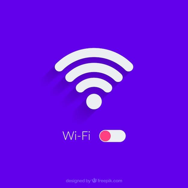Wifiの背景デザイン 無料ベクター