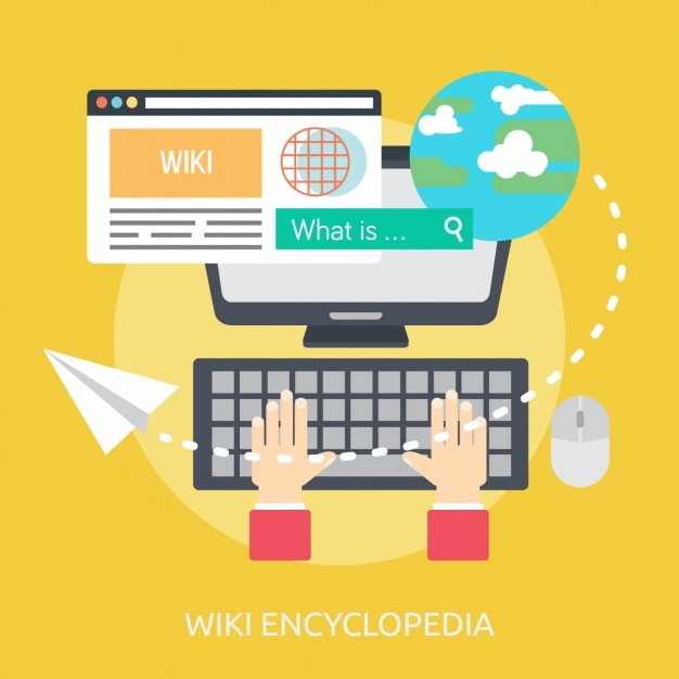 Wiki encyclopedia background design Free Vector