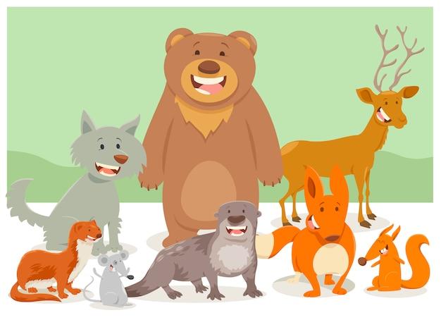 Группа животных животных Premium векторы