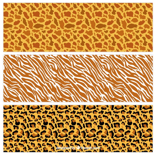 Wild animal print patterns Free Vector