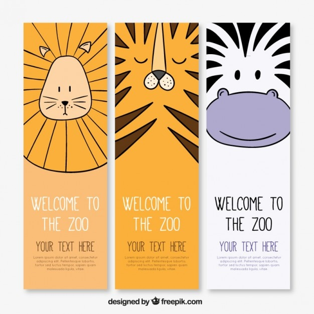 Wild animals banners