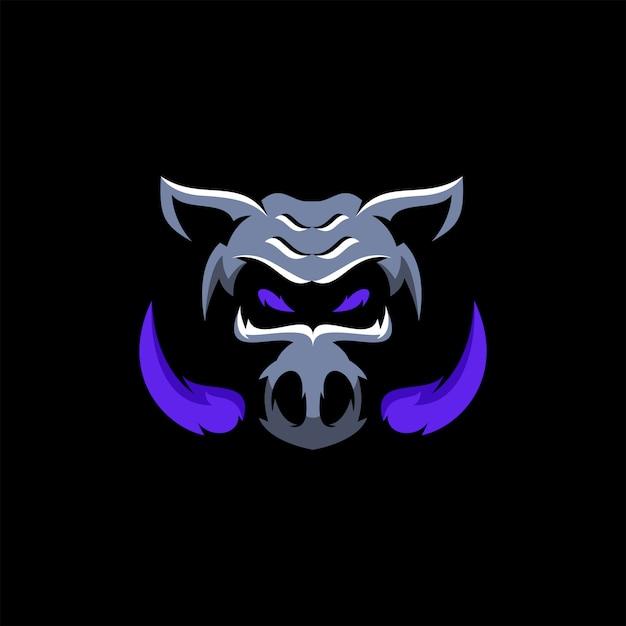 Wild boar head Premium Vector