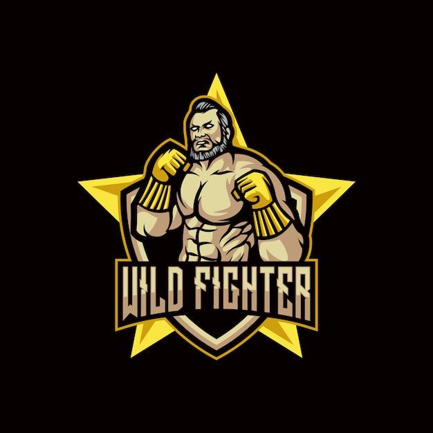 Wild fighter logo Premium Vector