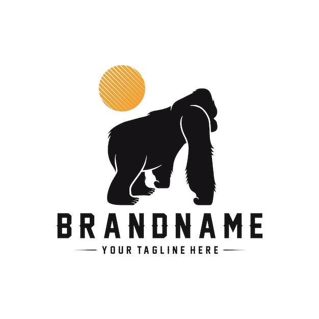 Wild gorilla logo template Premium Vector