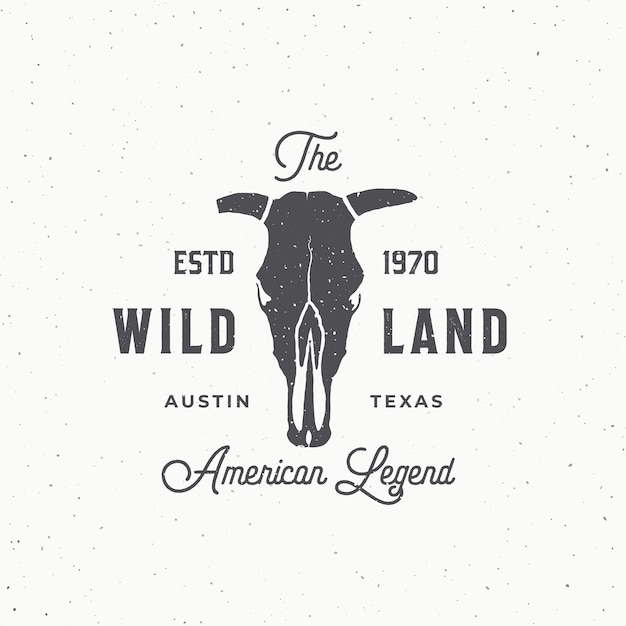 Wild land abstract  sign, symbol or logo template. Free Vector