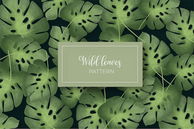 Wild leaves seamless pattern Free Vector