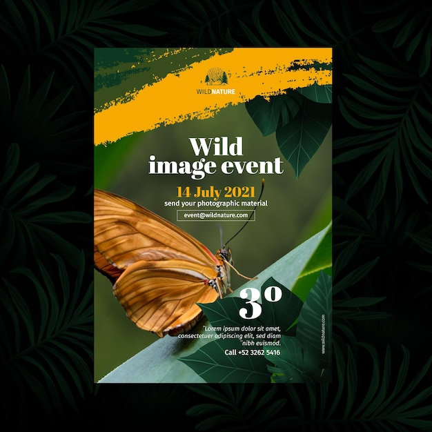 Wild nature poster concept Free Vector