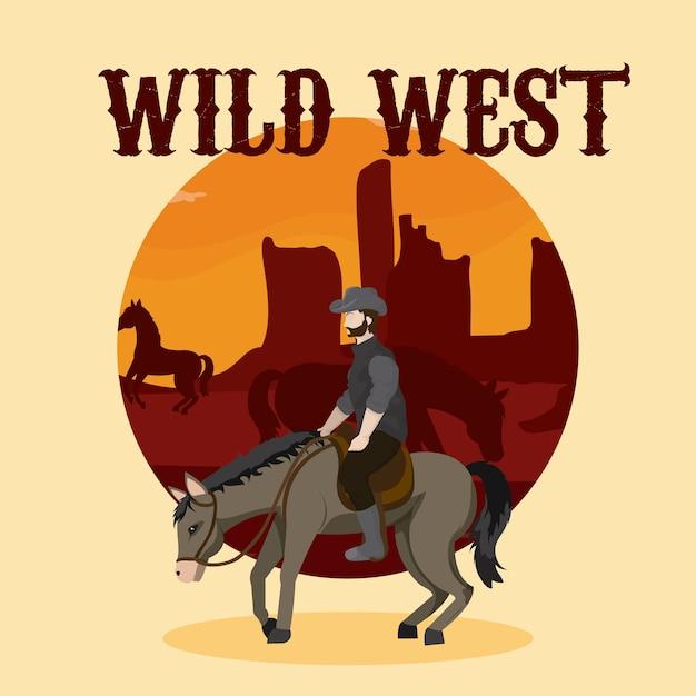 Wild west concept Premium Vector