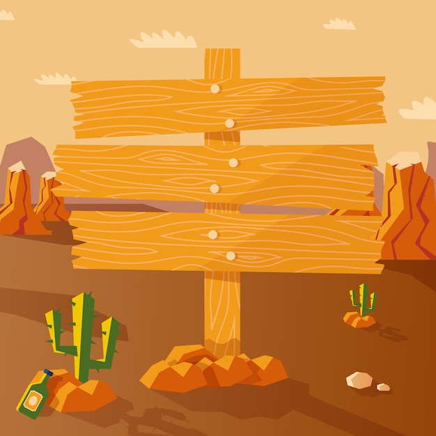 Wild west poster Free Vector