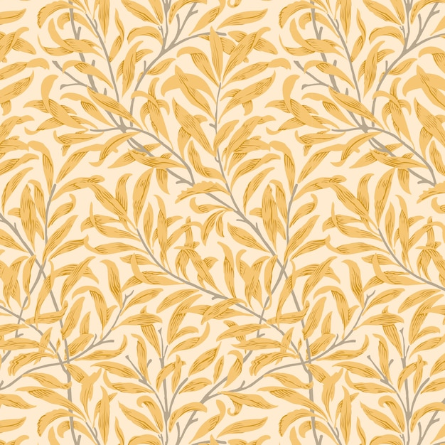 Willow bough by william morris (1834-1896). original from the met museum Free Vector
