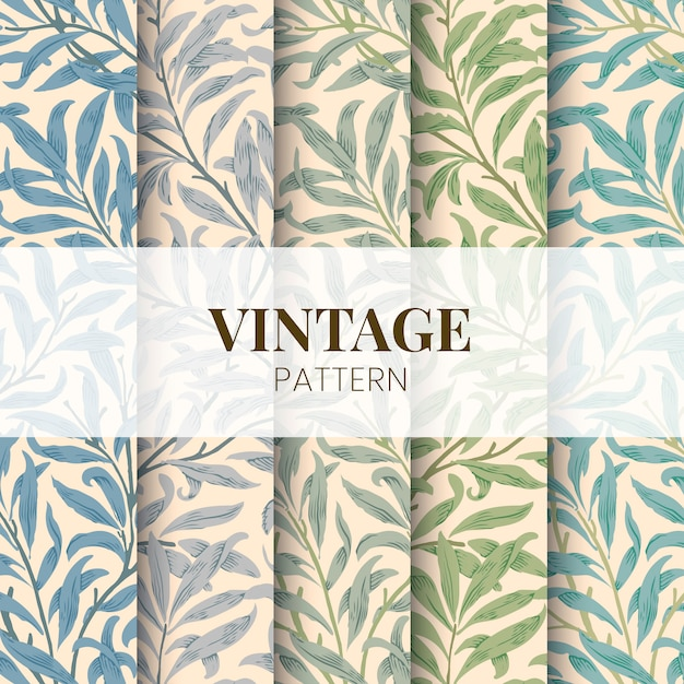 Willow bough by william morris Free Vector
