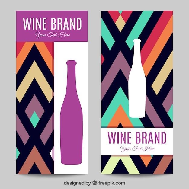 Wina бренд баннер пакет Бесплатные векторы
