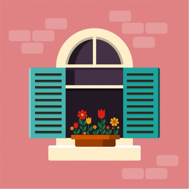 Window background design vector free download for Window design cartoon