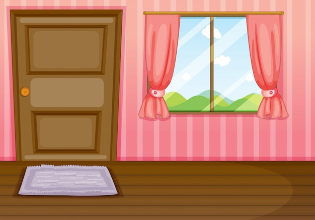 A window and a door Free Vector
