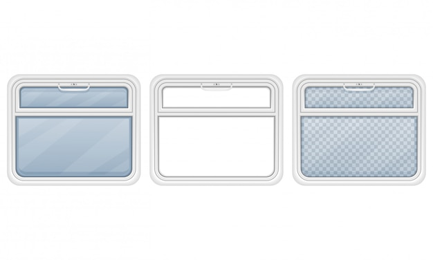 Window in the train compartment vector illustration Premium Vector