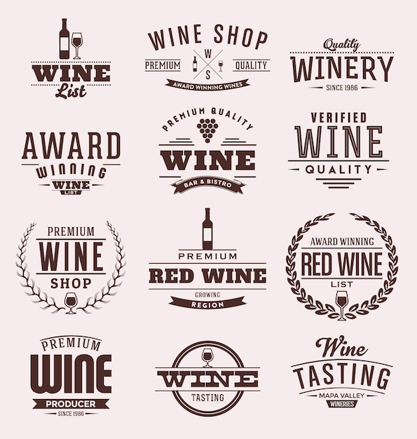 Wine badges collection