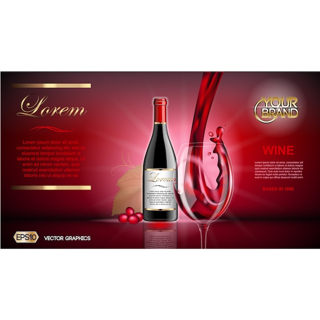 Wine Brochure Template Vector Free Download