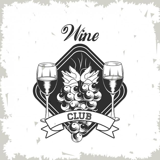 Wine club emblem Premium Vector