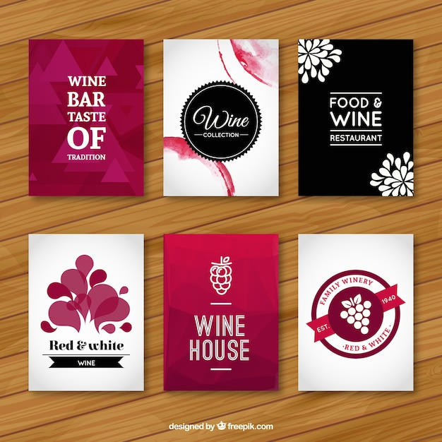 Wine Flyers Vector Premium Download