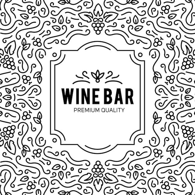 Бокал и виноград Бесплатные векторы