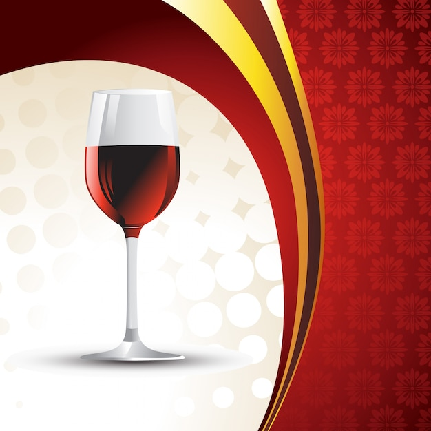 Wine glass on vintage background