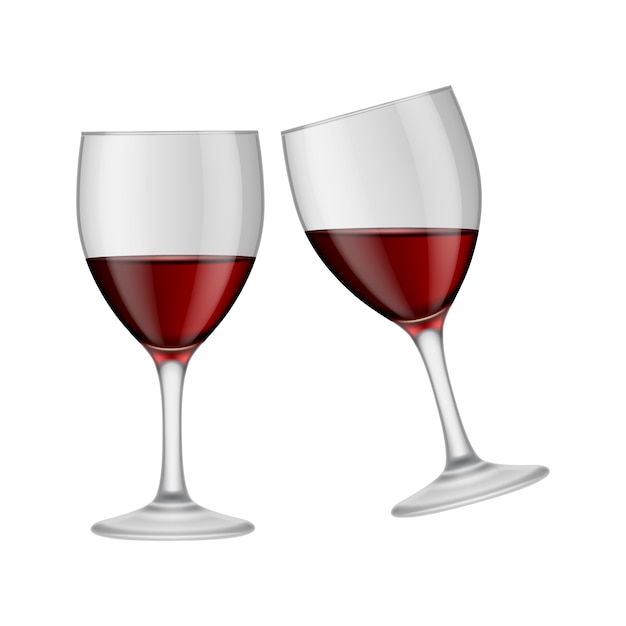 wine glasses design vector   free download