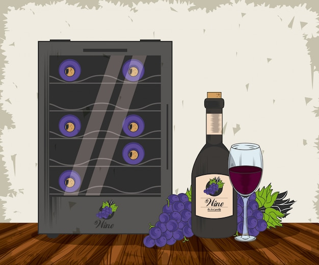 Wine grunge design Premium Vector