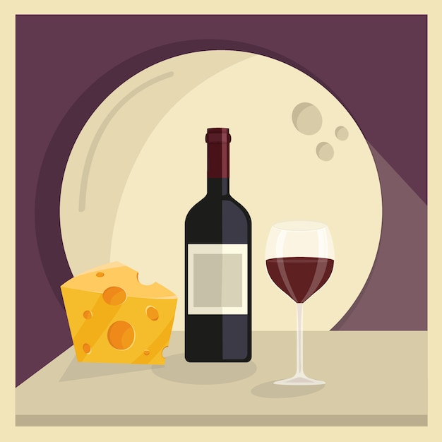 Wine And Cheese Vectors, Photos and PSD files | Free Download