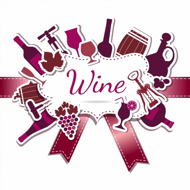 Wine label background Free Vector
