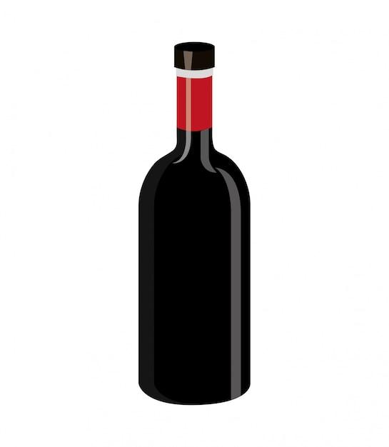 Wine label design isolated Vector | Premium Download