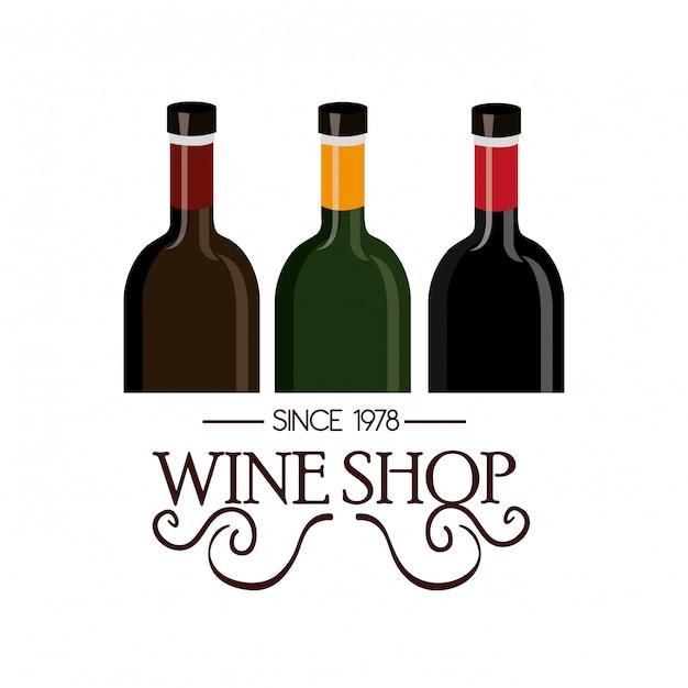 Wine label design isolated | Premium Vector