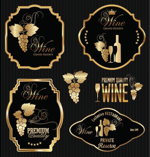 Wine label Vector | Premium Download
