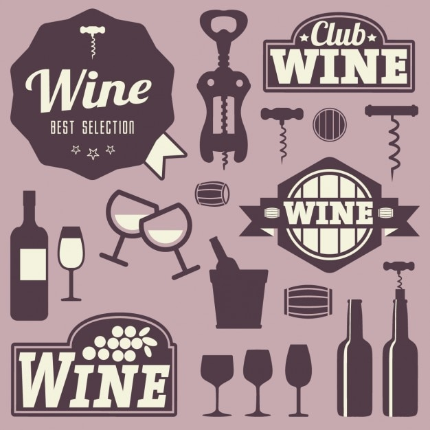 Wine labels and icons design