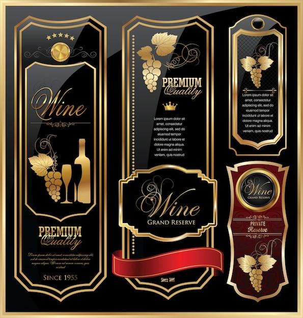 Wine labels | Premium Vector