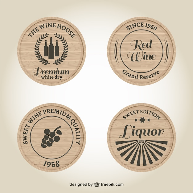 Wine And Liquor Labels Vector
