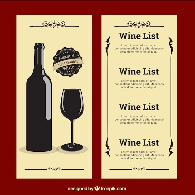 Wine List Vectors, Photos and PSD files | Free Download