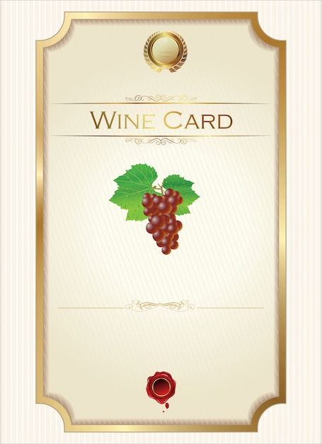 Wine list Premium Vector